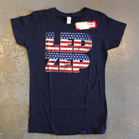 レッド ツェッペリン・アメリカン フラッグ ロゴ 女性用 T-シャツ