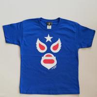 キッズ マスク1 Tシャツ ブルー