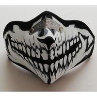 フェイスマスク3 スカル  バイク スノボー サバゲー 防寒用