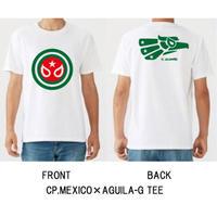 キャプテンメヒコ×アギラグランデ Tシャツ ホワイト×グリーン メキシコ