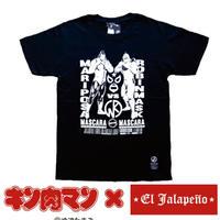 キン肉マン コラボ マリポーサVSロビンマスク Tシャツ ブラック