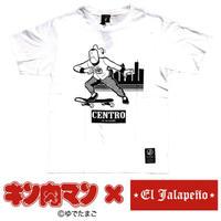 キン肉マン コラボ ラーメンマン スケートボード Tシャツ ホワイト