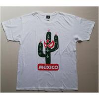 サボテンマスク Tシャツ ホワイト メキシコ