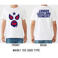 マスク1 Tシャツ ホワイト ルチャリブレ