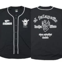 マスク3 ベースボールシャツ ブラック ルチャリブレ