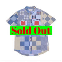 DENIM&SUPPLY Ralph Lauren(デニムアンドサプライ ラルフローレン) パッチワーク半袖シャツ