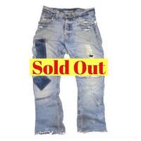 Nudie Jeans(ヌーディージーンズ) ダメージ加工 デニムパンツ REGULAR RALF