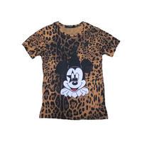 JOYRICH(ジョイリッチ) ミッキーマウス豹柄Tシャツ