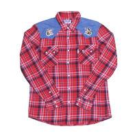 GAIJIN MADE(ガイジンメイド) 刺繍ネルシャツ