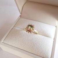 Sparkle ring(パーティカラードトルマリン)