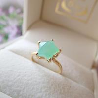 Etoile Ring M(クリソプレーズ)