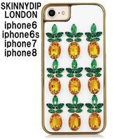 アウトレット skinnydip iphone8 iphone7 6s 6 ケース ビジュー パイン PINEAPPLE GEM