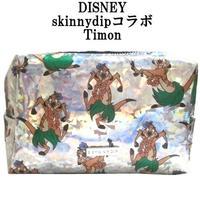 Disney ディズニー ティモン メイクアップバッグ skinnydip コラボ 化粧ポーチ timon ホログラム ミーアキャット