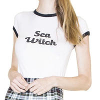 Valfre ヴァルフェー Tシャツ レディース 半袖 アメリカ の SEA WITCH tee カットソー
