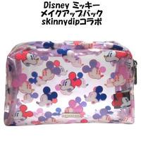 Disney ディズニー ミッキーマウス メイクアップバッグ skinnydip mickey face コラボ グッズ 雑貨 ポーチ ペンケース