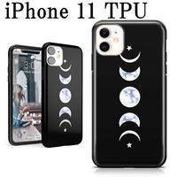 iphone11 ケース 月 大理石 ムーンマーブル TPU アクセサリー ブラック 黒 おしゃれ Marble Moon Case 背面ケース
