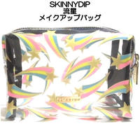 SKINNYDIP スキニーディップ 化粧ポーチ 透明 Shooting Star Make Up Bag マチあり ファスナー 台形 クリア pouch