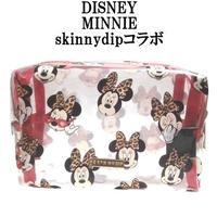 Disney ディズニー ミニーマウス skinnydip コラボ メイクアップバッグ 化粧ポーチ 小物入れ