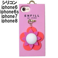 ENFILL iphone8 iphone7 iphone6s iphone6 ケース シリコン カバー 花 アイフォン