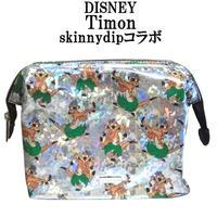 Disney ディズニーコラボ ティモン メイクアップバッグ skinnydipコラボ メイク 化粧ポーチ キラキラ ホログラム