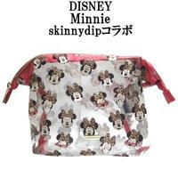 Disney ディズニー ミニー メイクアップバッグ skinnydip コラボ メイク 化粧ポーチ 小物入れ ファスナー キャラクター