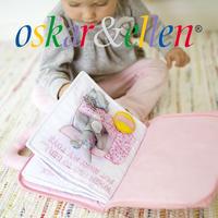 〔Oskar & Ellen オスカー&エレン]布絵本 グッドナイト ブック ピンク