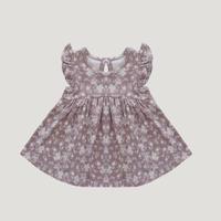 肩フリルワンピース - Fawn Floral