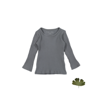 Lovely Littles The Ribbed Tee Slate