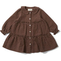 Konges Sløjd ADA DRESS - BROWN CHECK