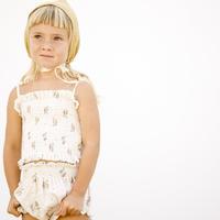 Liilu Blanca Smocked Top-Summer Bloosom