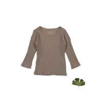 Lovely Littles The Ribbed Tee Taupe