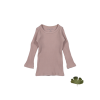 Lovely Littles The Ribbed Tee Mauve