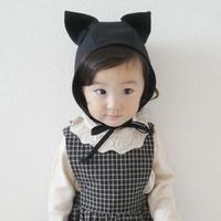 Briar Baby  BLACK CAT BONNET COTTON-LINED