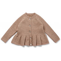 Konges Sløjd MEO FRILL CARDIGAN-ROSE BLUSH/HONEY COMB