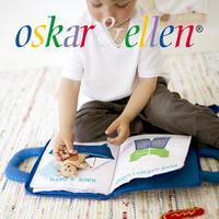 〔Oskar & Ellen オスカー&エレン]布絵本 グッドナイト ブック ブルー