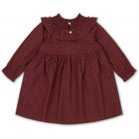 Konges Sløjd OLLIE DRESS - TINY CLOVER MAROON