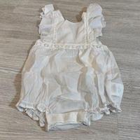 アウトレット Konges Sloejd ORCHID ROMPER -CLEAR WHITE 18M
