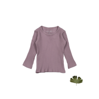 Lovely Littles The Ribbed Tee Violet