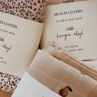 Konges Sløjd  3pack Muslin Cloth ORANGERY BEIGE