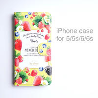 iPhone case (手帳型) for 5/5s/6/6s 【MIXED BERRY】
