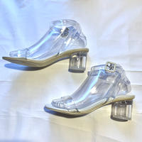 【Selected Item】Clear heel / クリアストラップ付きヒール / mg-284