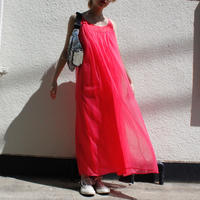 【Vintage】1970's vintage pink chiffon dress / ピンクシフォンドレス