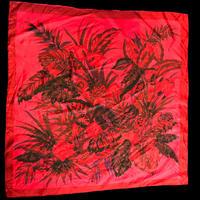 【Used】Elegant flower pattern scarf / エレガント花柄スカーフ