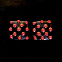 【Vintage】Dots square pierce / ドットスクエアピアス