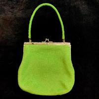 【Vintage】 green beads hand bag / グリーンビーズハンドバッグ