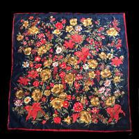 【Used】Classic flower patten Scarf / クラシック花柄スカーフ