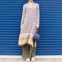 【Vintage】Flower pattan one piece / 花柄民族調ワンピース