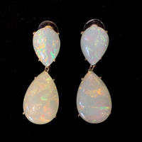 【Vintage】Aurora stone pierce /オーロラストーンピアス