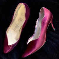 【Used】Wine red satin heel / ワインレッドヒール