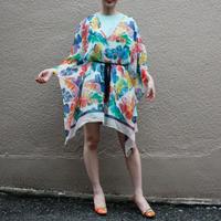 【Used】Leaf pattern scarf dress  / リーフ柄スカーフドレス